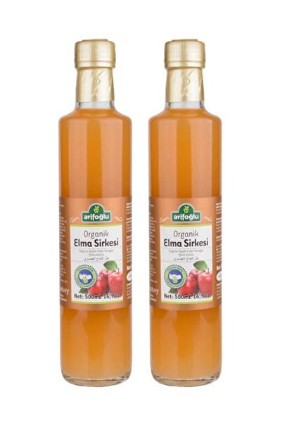 Organik Elma Sirkesi 2li Paket 500ml