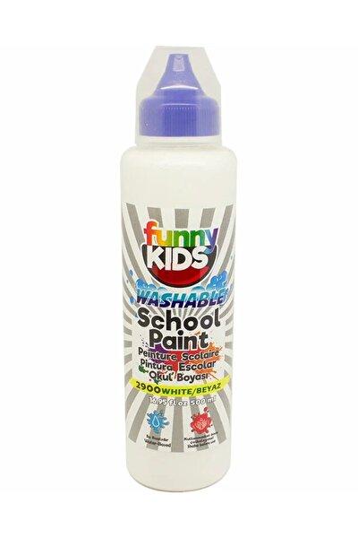 Funny Kids Yıkanabilir Okul Boyası 500ml - 2900 Beyaz