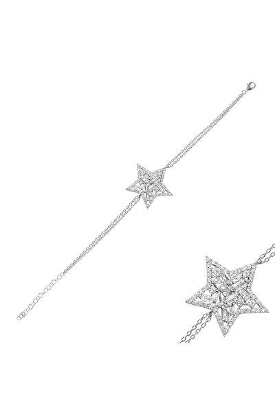 Pırlanta Yıldız Gümüş Bileklik