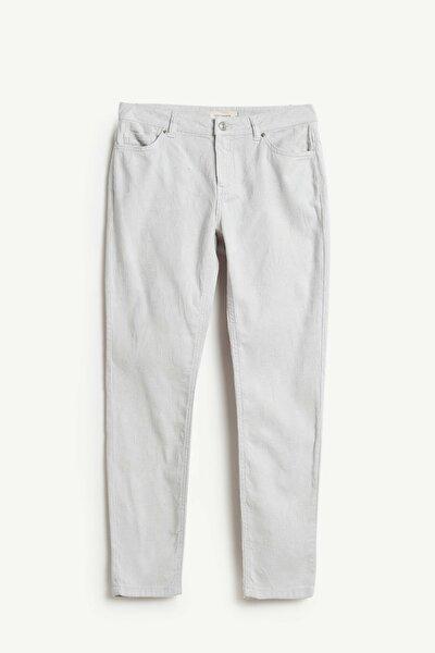 Kadın Açık Gri Beş Cep Pantolon 9KKPN3122X