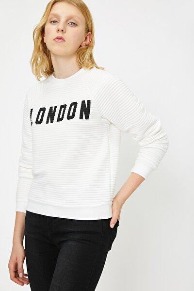 Kadın Beyaz Sweatshirt 0KAL18771IK
