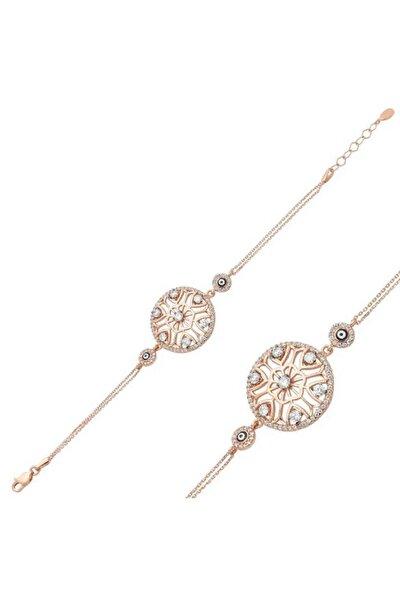 Kadın Gümüş Yaşam Çiçeği Bayan Bileklik BR0460323