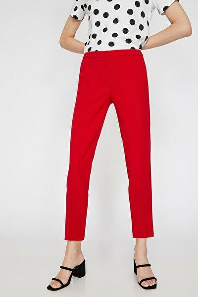 Kadın Kırmızı Düz Kesim Pantolon 0KAK42500RW