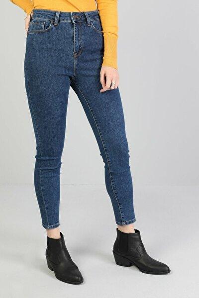 KADIN 760 Dıana Yüksek Bel Dar Paça Super Slim Fit Koyu Mavi Kadın Jean Pantolon CL1046126