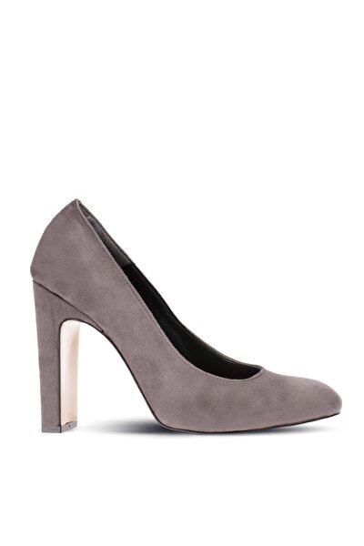 Gri Kadın Klasik Topuklu Ayakkabı 05021ZGRIM01
