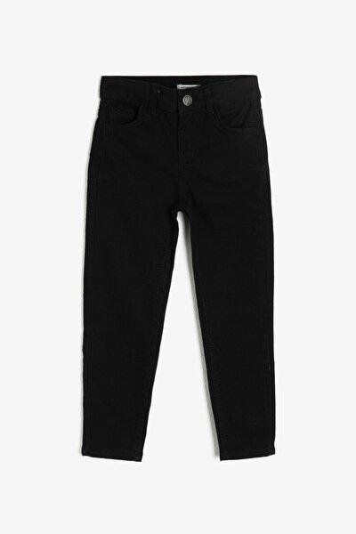 Siyah Cep Detaylı Erkek  Çocuk Jean Pantolon 0YKB46277DD