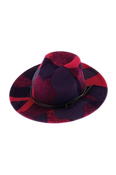 Desenli Kadın Fötr Şapka