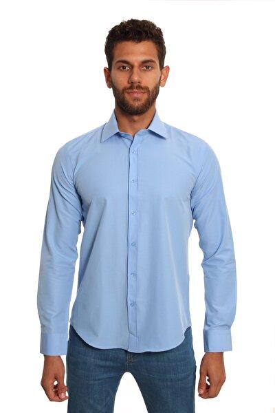 Uzun Kollu Erkek Gömlek Mavi/Blue 1922034