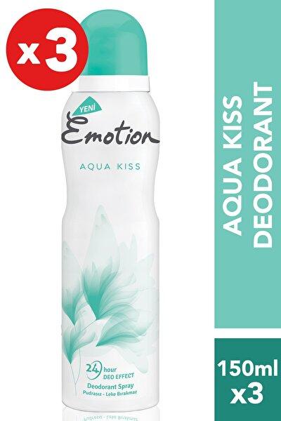 Aqua Kiss 3'Lü Kadın Deodorant (3X150 ml )