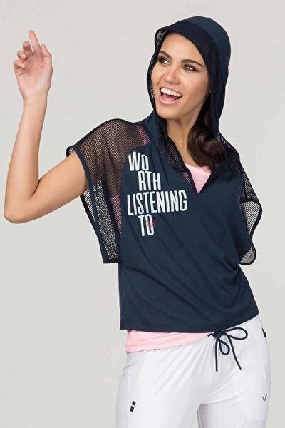 Lacivert Kadın Antrenman T-Shirt FS-1121