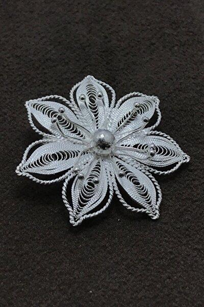 Kadın Yıldız Tasarım Elişçiliği Telkari Gümüş Broş (Yaka İğnesi) MNG201014277
