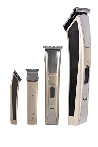 Profesyonel Titanyum T Bıçaklı Tıraş Makinesi Saç Ve Sakal Düzeltici Ense Tüy Kesme Traş Makinası