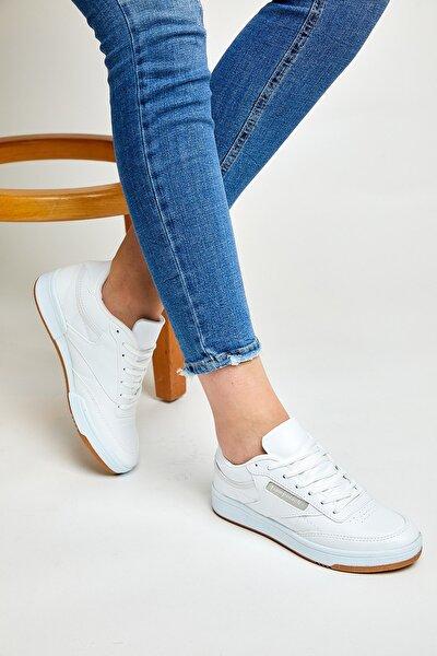 Unısex Spor Ayakkabı Beyaz Cilt Tb107