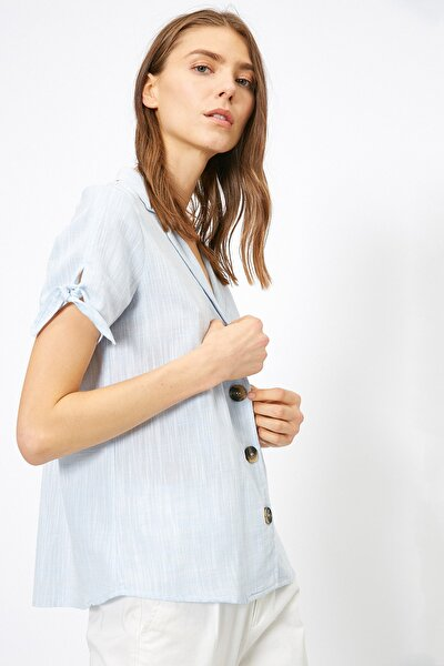 Kadın Mavi Bluz 0KAK68599PW