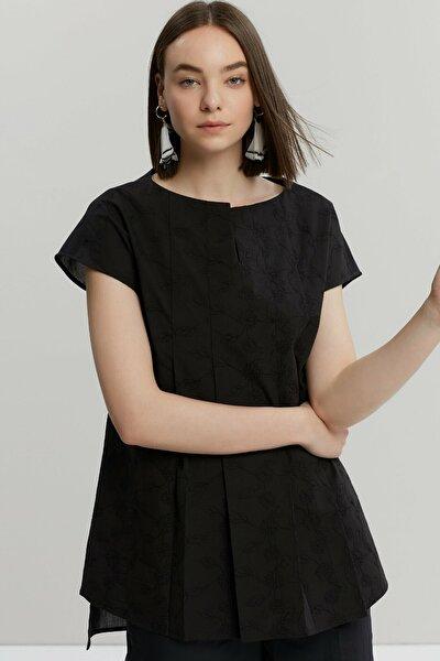 Kadın Siyah Tunik Gömlek 9KKGM6142A