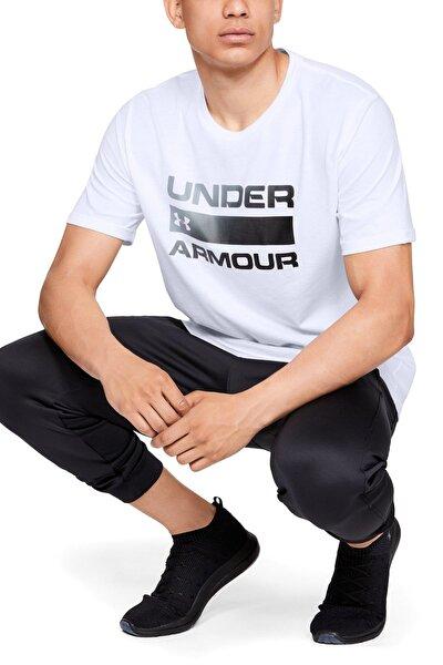 Erkek Spor T-Shirt - UA TEAM ISSUE WORDMARK SS - 1329582-100