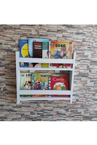 Montessori Çocuk Odası Kitaplık  2 Raflı
