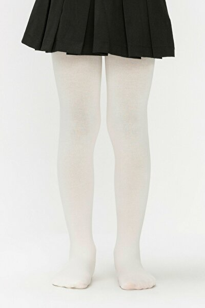 Kız Çocuk Beyaz Pretty Mikro 40 Pantolon Çorabı
