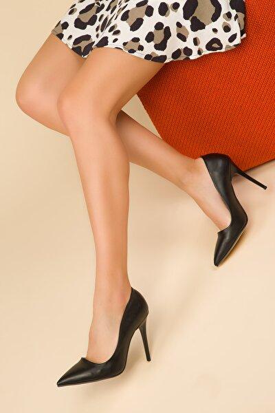 Siyah Kadın Klasik Topuklu Ayakkabı 14315
