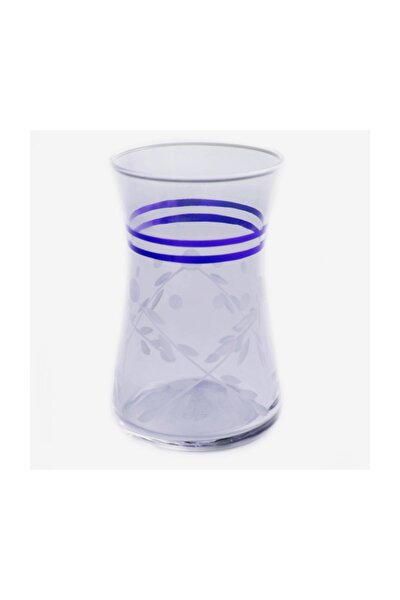 42361 Heybeli Selvi (mavi)dekor 6 Adet Çay Bardağı