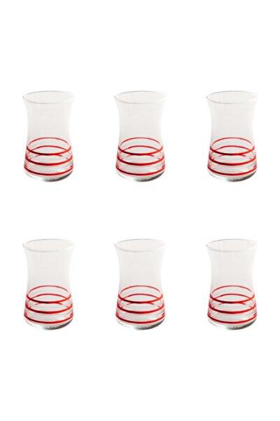 Heybeli Çember (kırmız) Dekor 6 Adet Çay Bardağı 42361