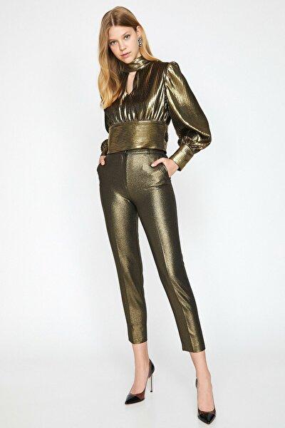 Kadın Sarı Sim Detayli Pantolon 0KAK44469FW