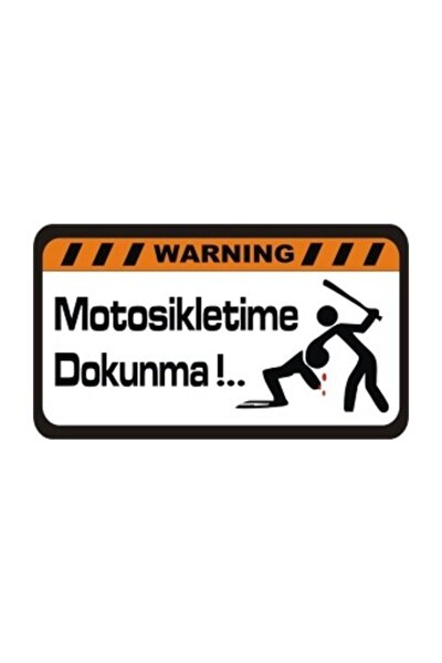 Motosikletime Dokunma Sticker