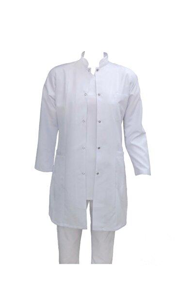 Büyük Beden Hakim Yaka Gömlek Yaka Doktor Öğretmen Laborant Stajyer Önlüğü