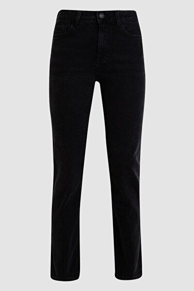Kadın Siyah Straight Fit Pantolon T57007570H