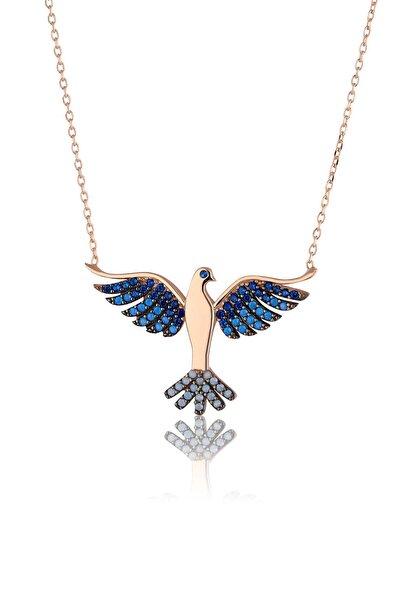 925 Ayar Gümüş Zümrüdü Anka Kuşu Kolye