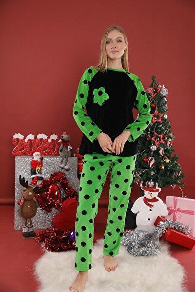 Lohusasepeti 20227 Yeşil Dalton Pijama Takımı