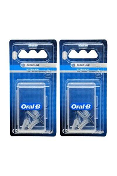 Oral B Arayüz Fırçası Yedek Başlık Eğimli 3.0/6.5mm 6'lı X 2 Adet