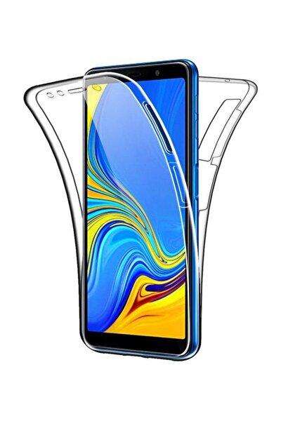 Samsung Galaxy A7 2018 Ön Arka Şeffaf 360 Derece Tam Korumalı Kılıf