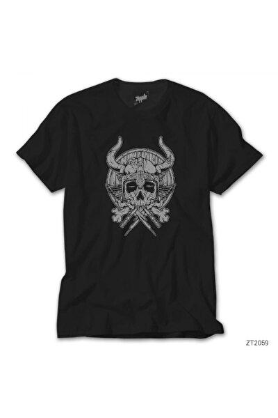 Vikings Rollo Thor Skull Siyah Tişört