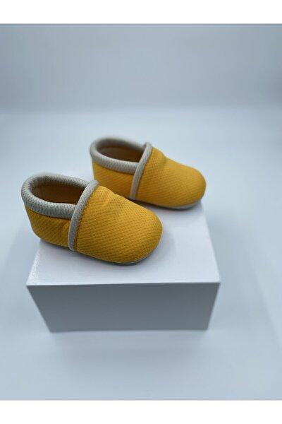 Bebek Bez Ayakkabı - 3 Katmanlı - Sarı