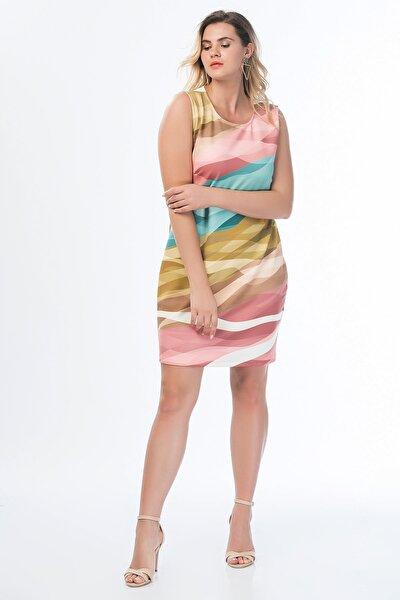 Kadın Renkli Renkli Elbise 65N14359