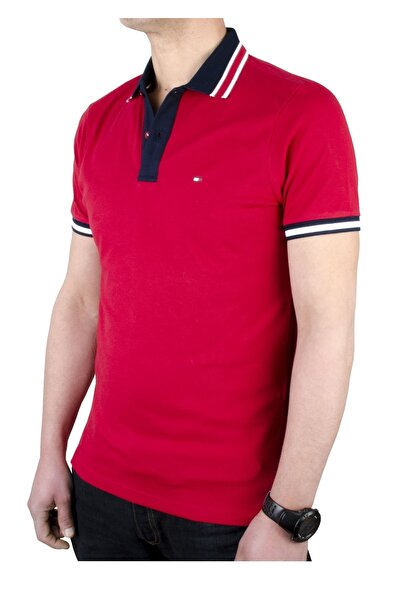 Erkek Fuşya Kontrast Placket Polo T-shirt Regular Fit Mw0mw10792