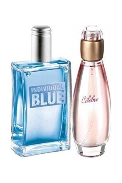 Celebre Edt 50 Ml Kadın Parfüm Ve Individual Blue Edt 100 Ml Erkek Parfüm 2 Li Set
