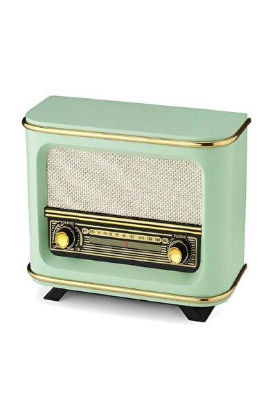 Nostaljik Model Ahşap Manuel Radyo Yeşil