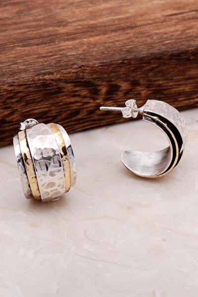Dövme El Yapımı Tasarım Gümüş Küpe 4897