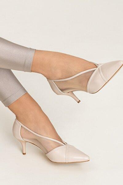 MIKENNAA Bej Kadın Ayakkabı