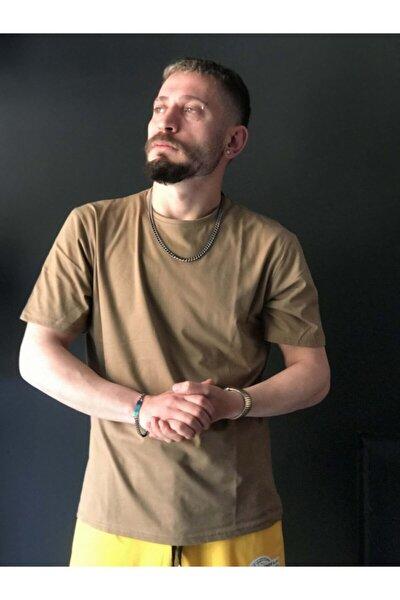 Unisex Zeytin Yeşili Düz OversizeT-shirt