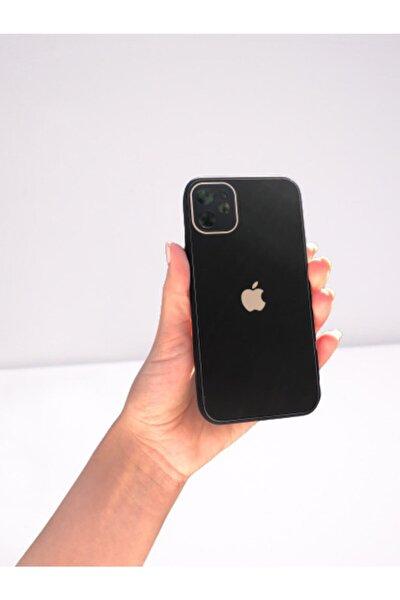Apple Iphone 12 Kamera Korumalı Cam Kılıf Siyah
