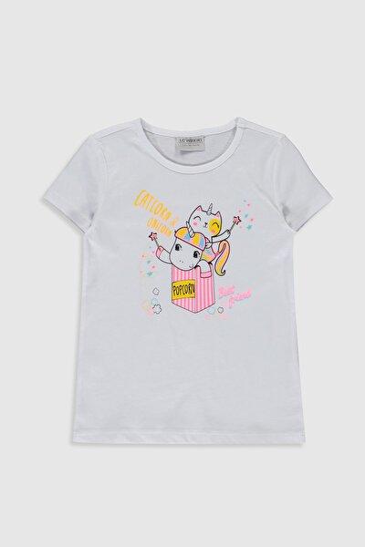 Kız Çocuk Optik Beyaz E5X Tişört
