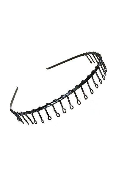 Taraklı Siyah Metal Taç Erkek Kadın Sporcu Saç Tacı