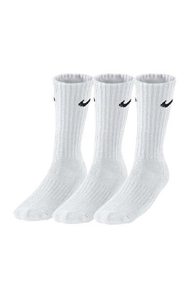 Sx4508-101 3ppk Value Cotton 3lü Beyaz Spor Çorap