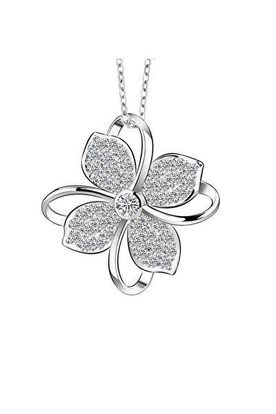 Gümüş Dört Yapraklı Yonca Kadın Kolye