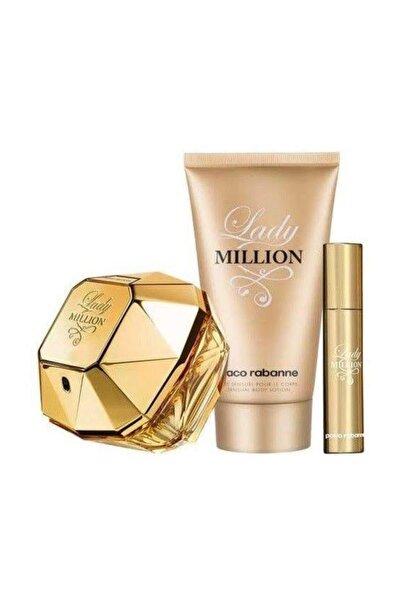 Lady Million Edp 80 ml & Lady Million Body Lotion Kadın 100 ml & Lady Million Travel Spray 10 ml