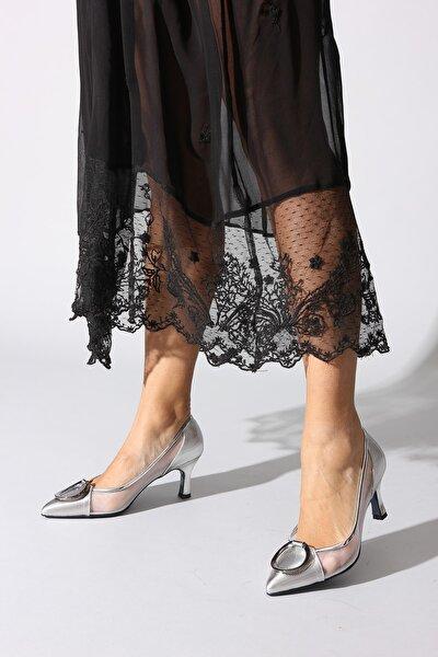 Gümüş Kadın Klasik Topuklu Ayakkabı 0382426-03