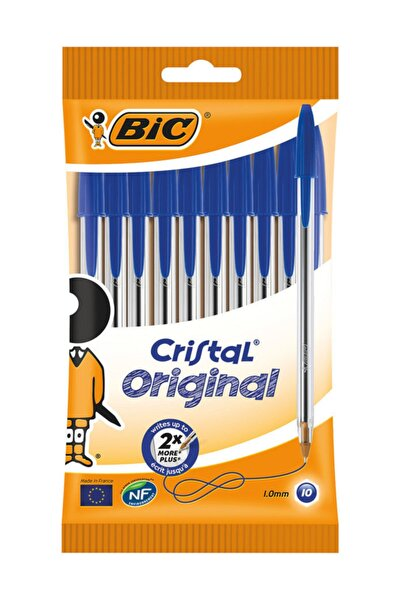 Mavi Cristal Original Tükenmez Kalemler 10 Paket